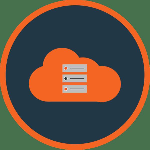 Cloud Servers Orange Icon