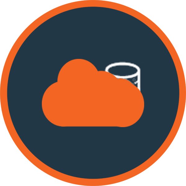 Cloud Storage Orange Icon