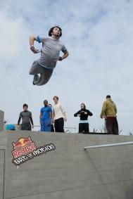 Yoann Leroux angel frontflip art of motion london