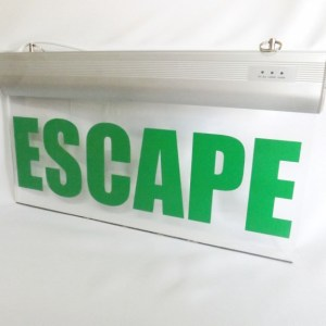 Señaletica emergencia LED ESCAPE