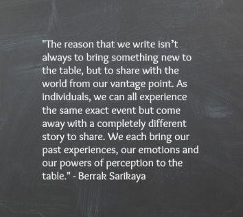 the reason we write