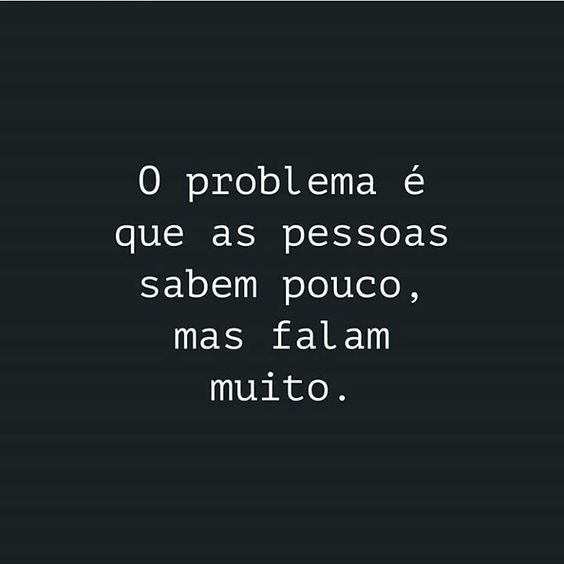 O problema das pessoas é