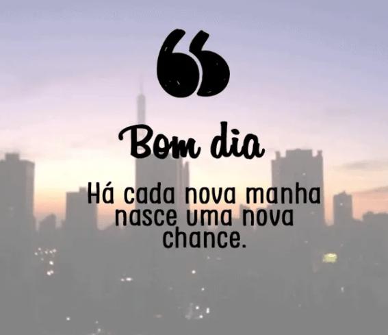 A cada dia nasce uma nova chance