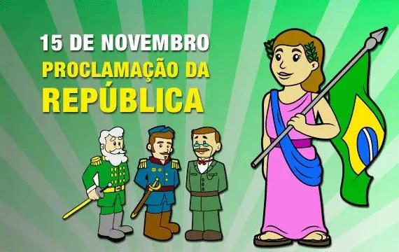 15 de novembro de 2019 dia da proclamação da republica