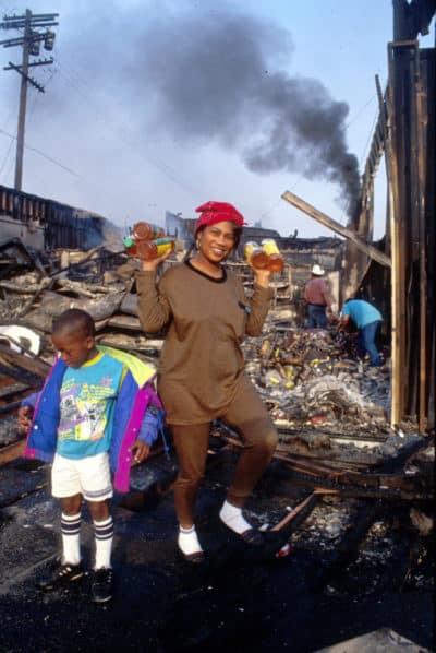 LA Riots Black Looter