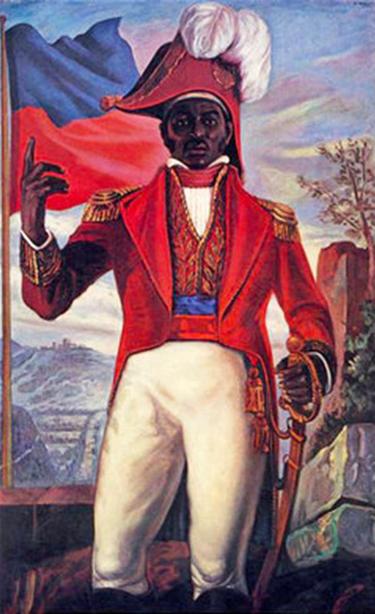 Mural of Dessalines in Port-au-Prince.