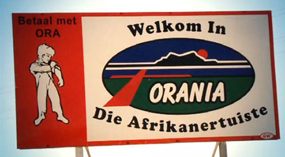 """""""Welcome to the Afrikaner home. Pay with the Ora."""""""