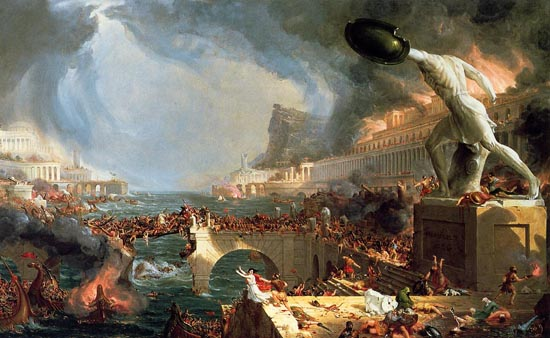 Destruction by Thomas Cole (1836).