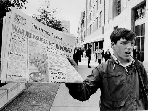 During the October Crisis,