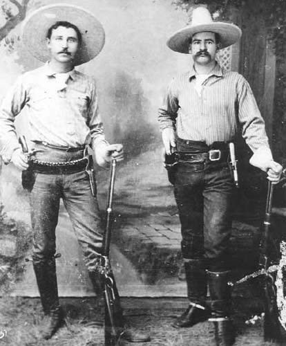 Texas Rangers George Black and J.M. Britton served in the Frontier Battalion after the Civil War.