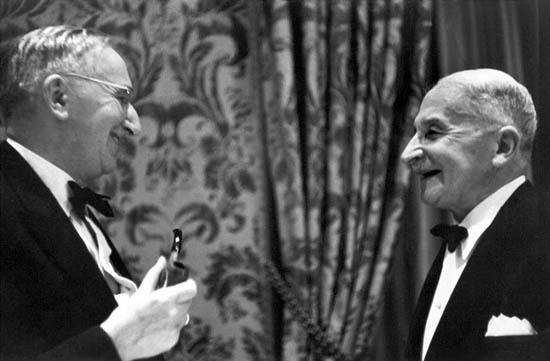 Friedrich von Hayek and Ludwig van Mises