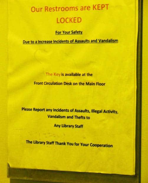 Anacostia Library Bathrooms