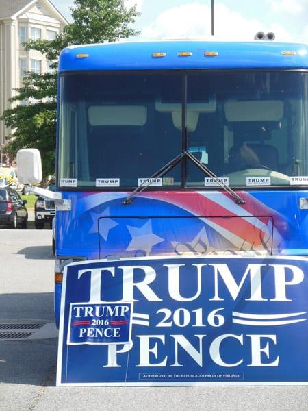 Trump Bus Front