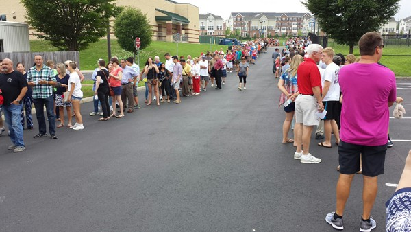 Just a short part of the line that was turned away