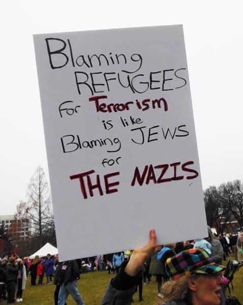 Pro-Refugees Anti-Trump