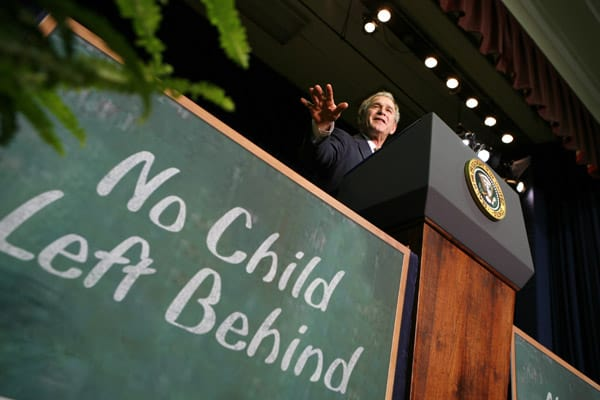 January 8, 2009 - President George W. Bush speaks about the No Child Left Behind act. (Credit Image: © Kevin Lamarque/Reuters via ZUMA Press)