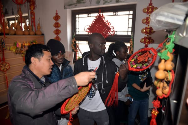 College students from Congo and Ghana experience Chinese traditional culture at Liaocheng University. (Credit Image: © SIPA Asia via ZUMA Wire)