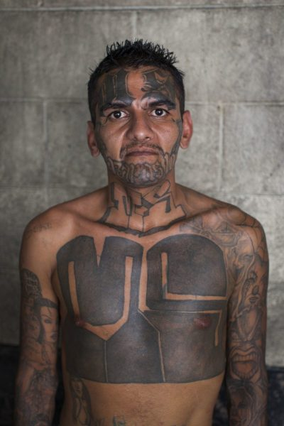 MS-13 Chest Tattoos