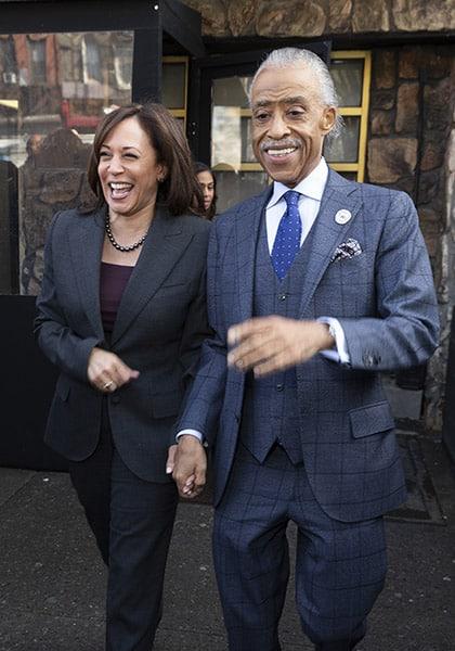 USA: Senator Kamal Harris and Al Sharpton lunch