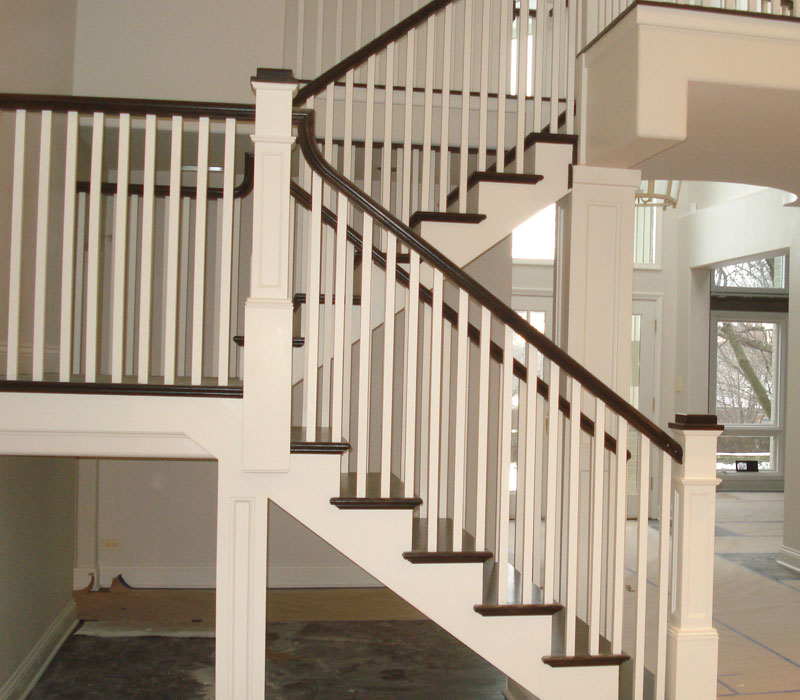 Wood And Iron Balusters Custom Staircases Amron Stairs