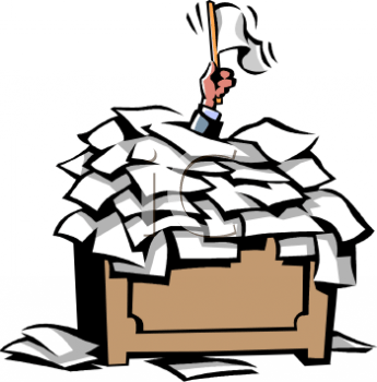 Image result for paperwork overload