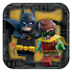 LEGO Batman Movie Paper Plates 18cm - 6 PKG/8