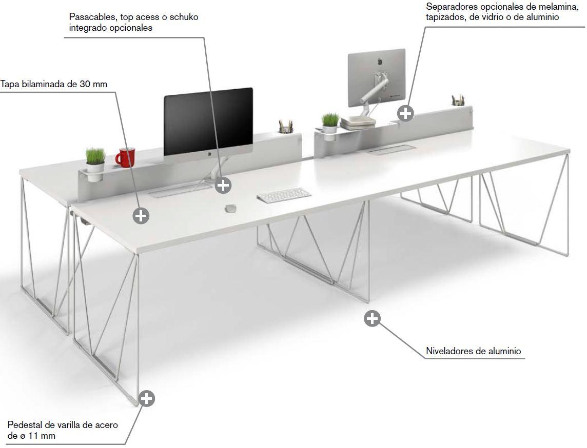 Mesa Recta De Sistema Forma 5 Let S Work Muebles De Oficina  # Muebles Filadelfia Para Estetica