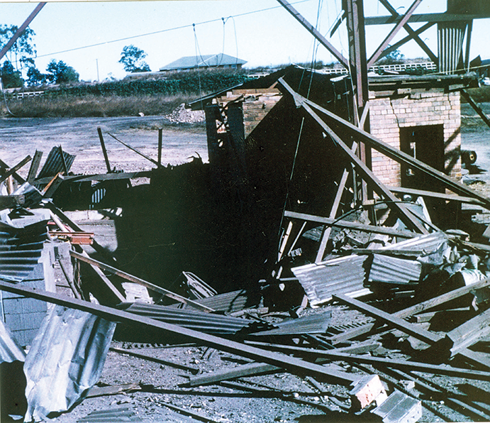 Remains-of-Deputy's-cabin-1---day-after-Box-Flat-explosion-Ipswich-1972