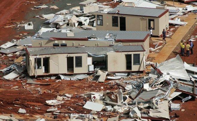 Dongas, Cyclone George, Pilbara