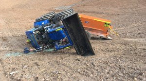 tractor rollover at NSW mine