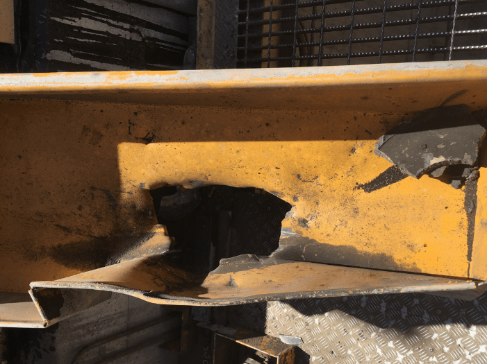 mill reline parts ejected