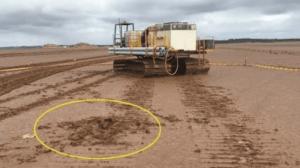 mobile plant accident scene