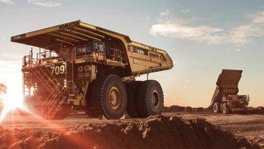 mining equipment dump truck at site