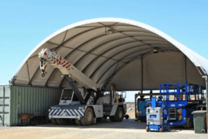 domeshelter fabric structure for use in mining
