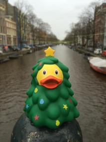 Christmas Tree Rubber Duck Canal