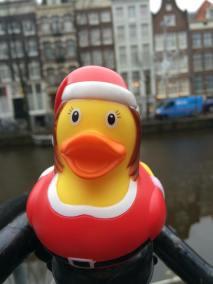 Santa Woman Rubber Duck