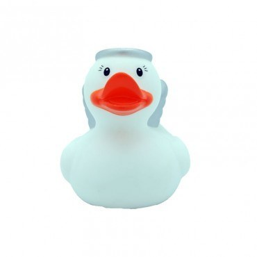 Angel silver rubber duck Christmas