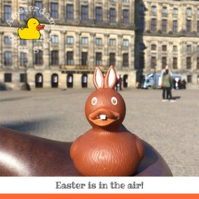 Easter Chocolate Rubber Duck on Dam Amsterdam