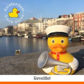 Early duck waking up sleepy heads @ Hogesluis Amsterdam