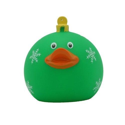 Christmas ball green rubber duck