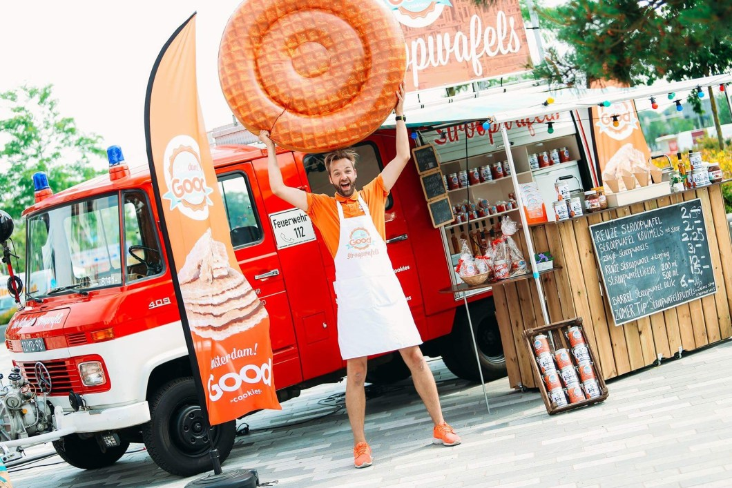 Stroopwafels Amsterdam! Good Cookies Stroopwafels Barrel Food Truck