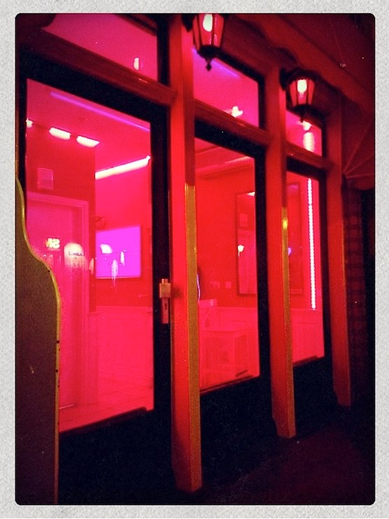 Window brothels in Amsterdam's Red Light District.