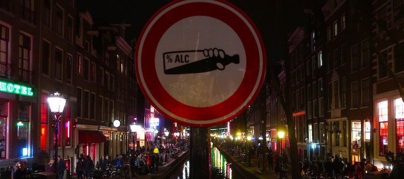 Amsterdam Red Light District Questions public alcohol consumption