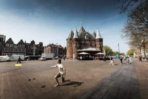 Amsterdam's Nieuwmarkt and the famous Waag