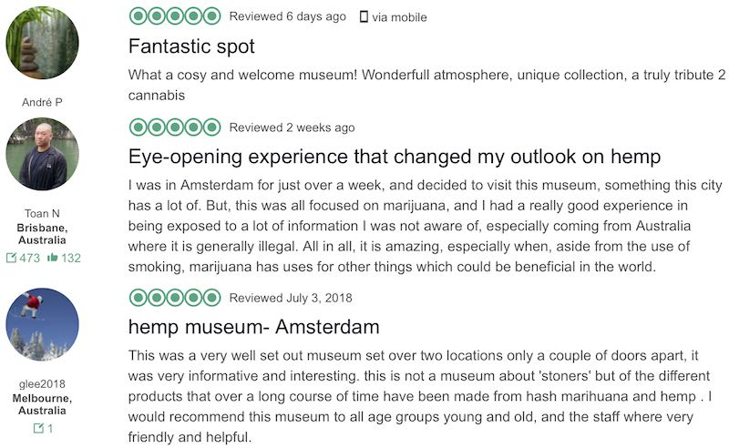 Hash Marihuana and Hemp Museum Tripadvisor reviews