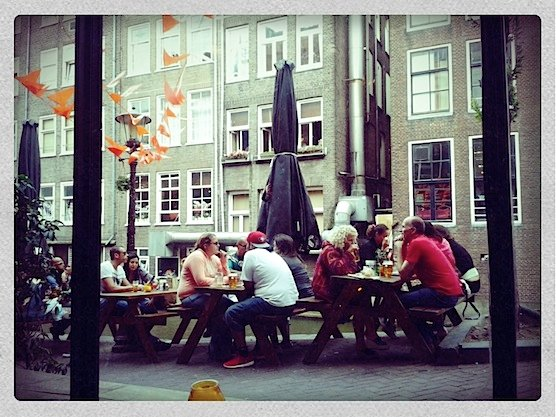 Inside view Restaurant Mata Hari Amsterdam