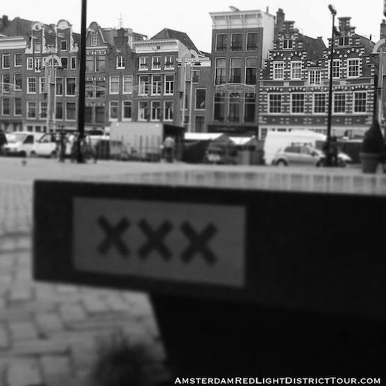 Nieuwmarkt Square in Amsterdam. Also known as New Market Square.