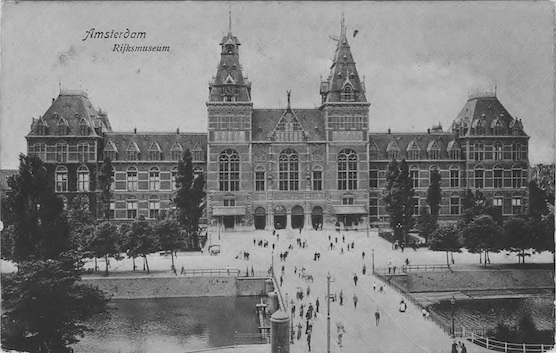 The Rijksmuseum in Holland's capital, Amsterdam in the year 1908