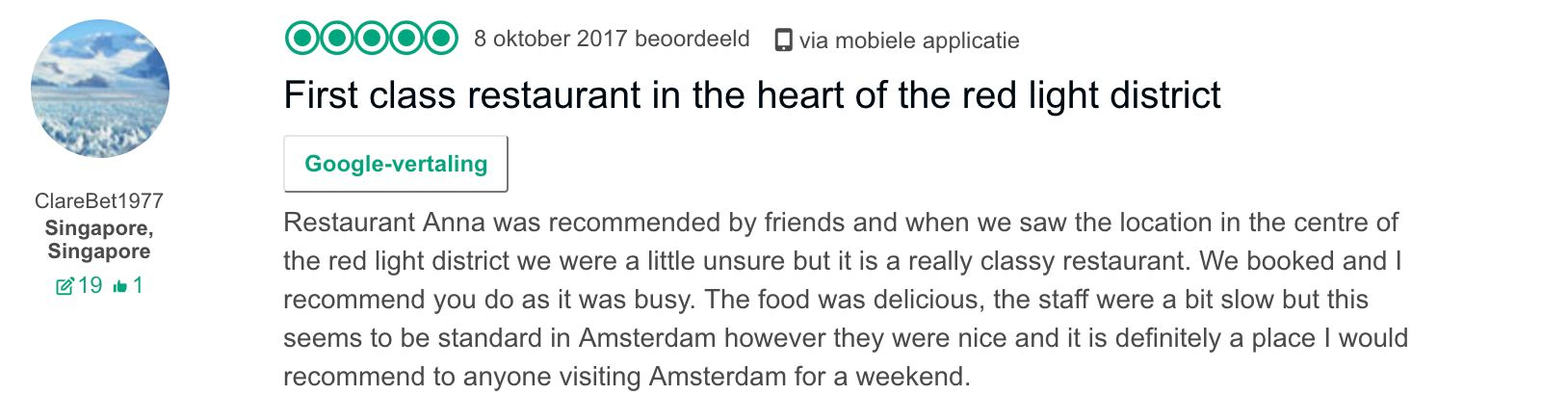 Restaurant Anna Tripadvisor Review