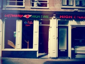 Amsterdam's Coffeeshop High Times in the Red Light District